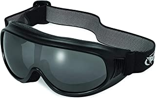 2 Pair Global Vision Trump Padded Motorcycle Goggles Black with 1 Clear and 1 Smoke One Piece Lens