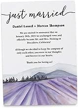 Just Married Lavender Farm Elopement Announcement Cards, Wedding Elopement Card, Announcement Cards