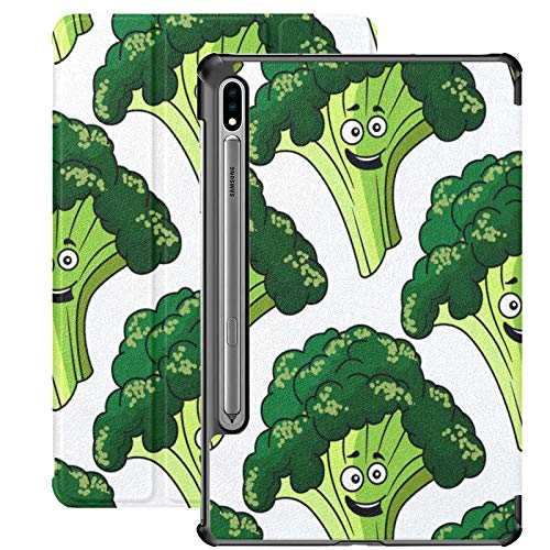 Little Green Broccoli Pretty Health Galaxy Tab S7 Plus Case For Samsung Galaxy Tab S7/s7 Plus Cases For Tablets Stand Back Cover Galaxy S7 Plus Case For Galaxy Tab S7 11 Inch S7 Plus 12.4 Inch