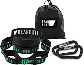Bear Butt Hammock Straps - Best XL Lightweight Portable Hammocks Tree Strap for Outdoor Camping, Hiking & Backpacking - 20 Foot Long with 40 Adjustable Loops and Holds 1000 lbs - Comes with Set of 2