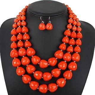 Women's Jewelry Set Collar Choker Bib Statement Neckle Earring Jewelry Set For Women Girls (5 colors) Neckle Earrings Set ...