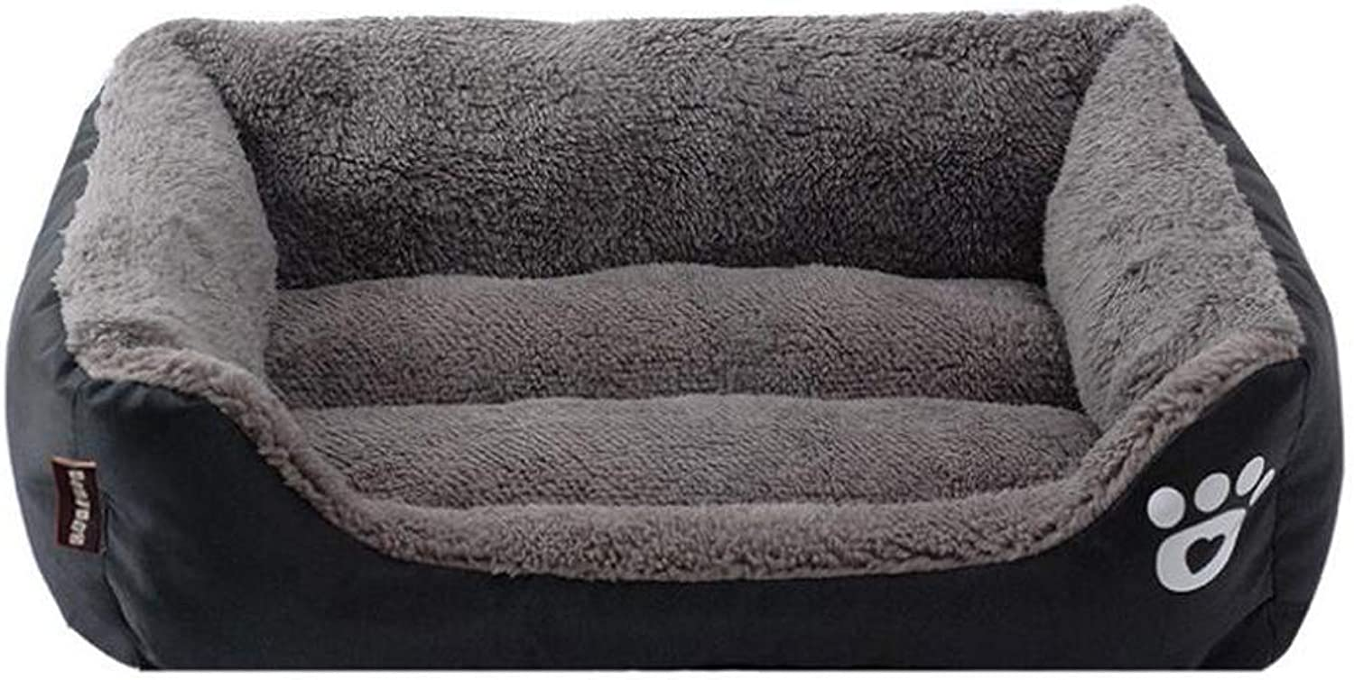 Kennel Cat Sofa Bed Warm Autumn and Winter Candy color Pet Nest Sofa Bed Cat Litter Kennel,C,XL