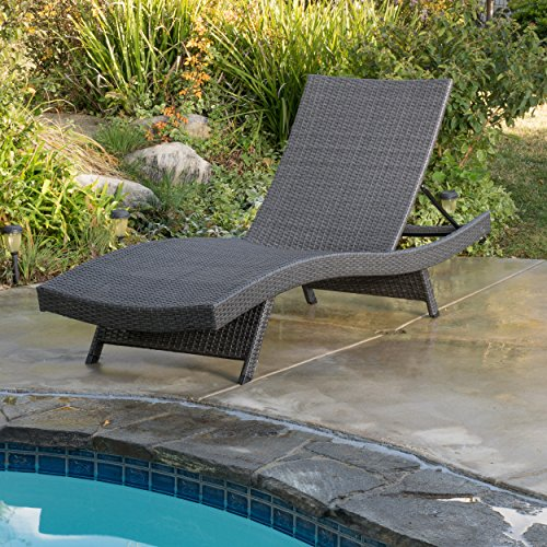 Christopher Knight Home Salem Outdoor Grey Wicker Chaise Lounge Chair