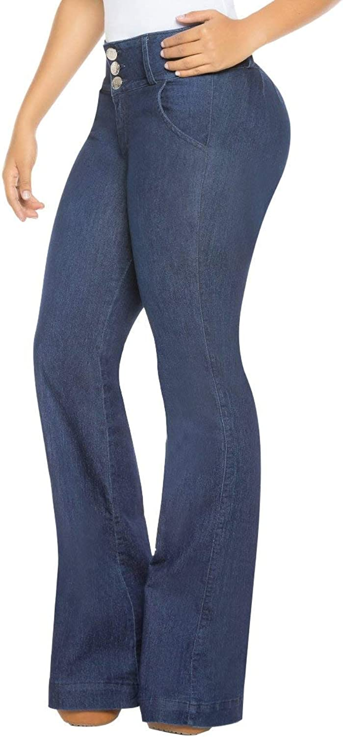 Equilibrium Colombian Bootcut Jean for Women  MidRise Stretch Curvy Jean J8915