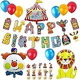 JeVenis 37 globos de circo de cumpleaños de circo, decoración de cumpleaños, decoración de carnaval, decoración de fiesta de payaso, decoración de circo, fiesta de cumpleaños