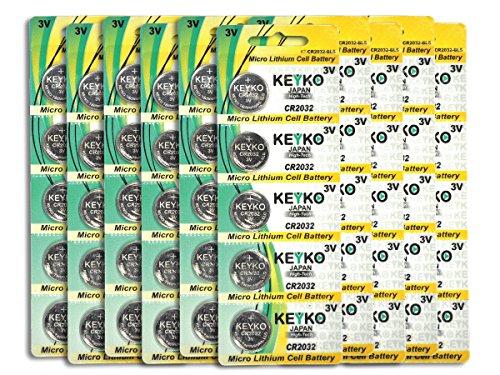 2032 Battery CR2032 3V Lithium Coin Cell Battery Type : CR2032 / DL2032 / ECR2032 Genuine KEYKO Supreme High Energy - 50 pcs Pack