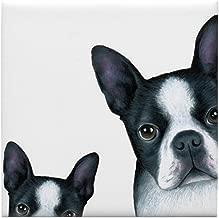 CafePress Dog 128 Boston Terrier Tile Coaster, Drink Coaster, Small Trivet