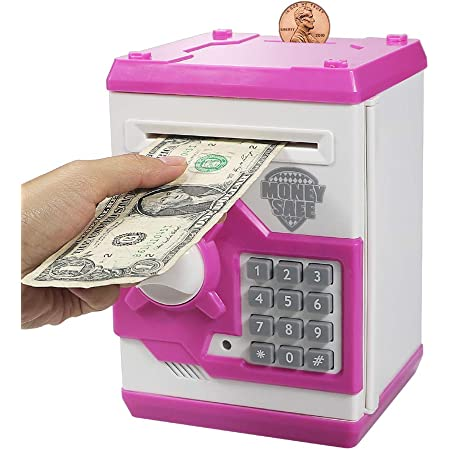 Toy Gifts Birthday Gift for Children Kelibo Electronic Money Bank for Kids Camouflage Green Elctronic Password Security Piggy Bank Mini ATM Cash Coin Saving Box Smart Voice