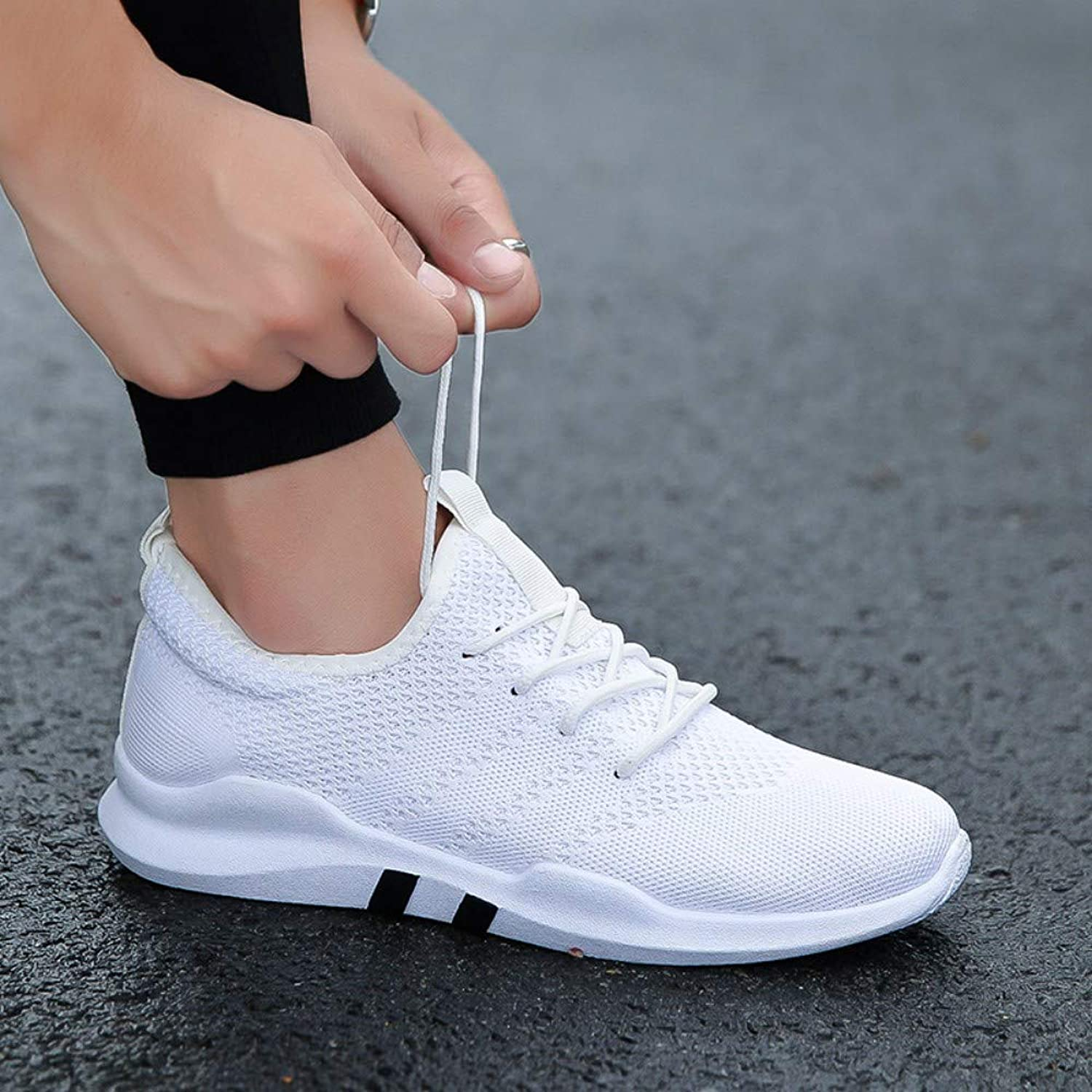 YAYADI Men Running shoes White Sapatos Masculino Men Sneakers Male Athletic Sport shoes Outdoor Lightweight Walking shoes Fitness Breathable