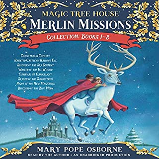 Merlin Mission Collection     Books 1-8              By:                                                                                                                                 Mary Pope Osborne                               Narrated by:                                                                                                                                 Mary Pope Osborne                      Length: 10 hrs and 18 mins     122 ratings     Overall 4.6