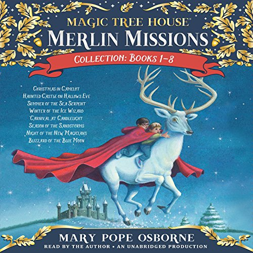 Merlin Mission Collection     Books 1-8              By:                                                                                                                                 Mary Pope Osborne                               Narrated by:                                                                                                                                 Mary Pope Osborne                      Length: 10 hrs and 18 mins     140 ratings     Overall 4.7