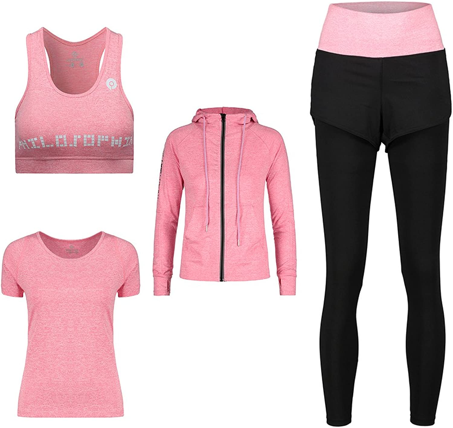 Women's 4 Sports Suit Fitness Running Yoga Set