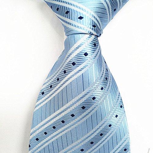 FYios Corbata Azul Claro Rayas Corbata Hombre Traje de Negocios ...