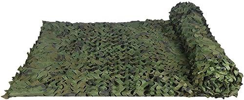 Filet de camouflage visière extérieure épaississe Le Filet De Camouflage De Jungle Pour La Chasse Au Camping Sur Le Terrain Tirant Le Filet De Prougeection Solaire Militaire   Multi-taille Réseau de cam
