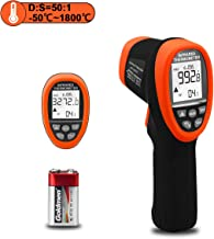 AOPUTTRIVER AP-3272 Infrared Thermometer Circle Laser Thermometer -58° to 3272°F(-50~1800℃) Pyrometer D:S=50:1 High Temp Thermometer, Non Contact IR Thermometer Gun with Backlit & Flashlight for Kiln