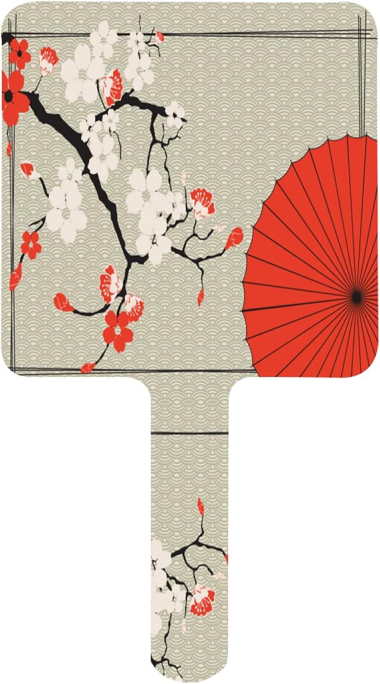 ZXZNC Hand Mirror Japanese Blossom Cherry And Umbrella Miami Mall Spasm price
