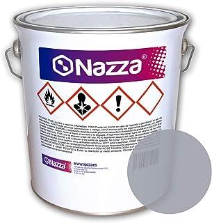 Pintura para Suelos de Hormigón SIN Disolvente | Pintado de suelos de garajes, factorías y almacenes | NO INCLUYE CATALIZADOR | Color Gris | Envase de 4 Kg.