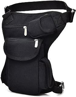 SYIDINZN Drop Leg Bag Pouch Holster Tactical Waist Bag, Men's Retro Multifunctional Outdoor Cotton Sports Racing Fanny Pack Bike Motorcycle Cycling Camping Hiking Hip Bag (Black)