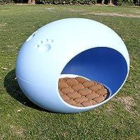 ペットベッド ペット用品ブルー、ペットベッド四季ユニバーサル快適な猫の家、猫の巣プラスチックペットハウス夏の子犬のベッド