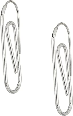 French Connection - Paperclip Post Earrings