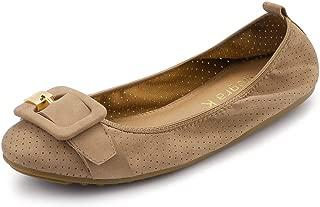 Allegra K Women's Buckle Casual Comfortable Ballet Flat