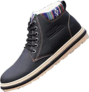 Men's Snow Boots, Non-Slip Wearable Warm Martin Boots, Casual Shoes, for Winter