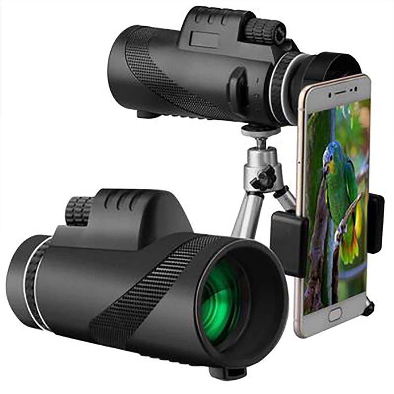 ブロンズ肥沃な誘発するDEYE 単眼望遠鏡 スマートフォン用 防水 耐衝撃 10X50 ハイパワー BAK7 プリズム FMC単眼鏡 バードウォッチング ハンティング キャンプ用 ブラック