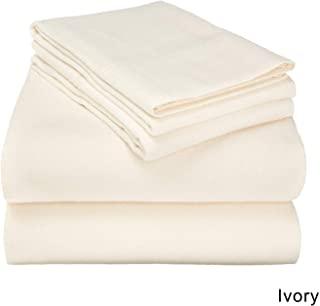 Tula Linen 900 TC 100% Egyptian Cotton Sleeper Sofa Bed Sheet Set Solid fit Up to 9 Inch with 4 -PCS Fitted Straps Premium Quality (Queen XL (60