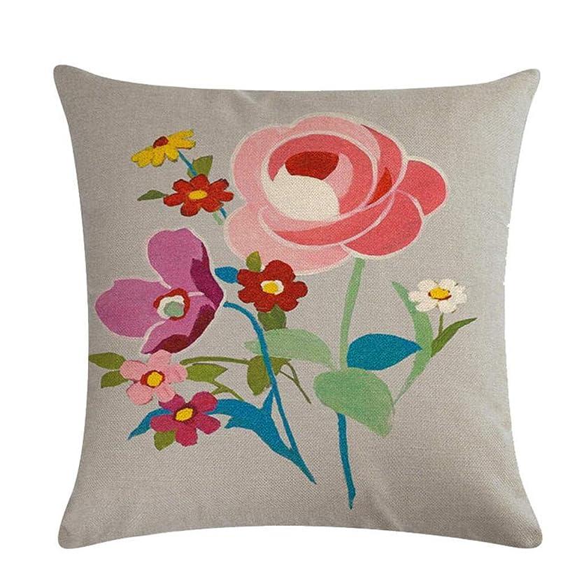 マイク起きている限界Noonlity 活気に満ちた花と夏の時間に触発された花の装飾枕カバーおしゃれ,スタイル18