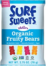 Surf Sweets Organic Fruity Bears, Non GMO Project Verified, Gluten Free, Nut-Free, Vegan & No Artificial Colors or Flavors...