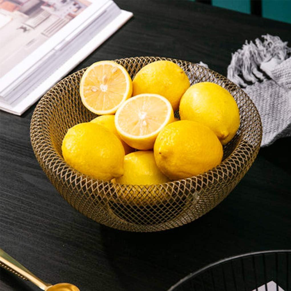 Oro rongweiwang Doble Pared de Malla Decorativa de la Fruta Cesta de Metal Mesa de Caramelo Malla Aperitivo Cuenco Cocina como Centro Titular