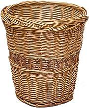ZXHDND Bamboo Trash Can Household Storage Basket Rattan Storage Bin Waste Paper Storage Box Home Product Size 27 X 29cm (C...