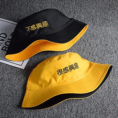 Sombrero De Pescador Anillo De Verano Letra Harajuku Sombrero De Cubo De Algodón Hombres Mujeres Sombrero De Sol De Playa Al Aire Libre Moda Panamá Sombrero De Pescador De Pesca-21