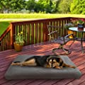 """PETMAKER Waterproof Memory Foam Pet Bed- Indoor/Outdoor Dog Bed with Water Resistant Non-Slip Bottom & Removeable Washable Cover, 44""""X35 (Gray)"""