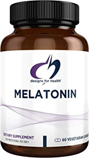 Designs for Health Melatonin 3mg - Sleep Support Supplement for Adults - Vegetarian + Non-GMO (60 Capsules)