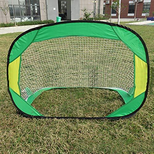 UICICI Fußballtor Klapp Kinder Erwachsener Haushalt Indoor-Outdoor-Stuhlgang Mini-Ziel Montag einfach bedienen Ziel (Farbe : 2)