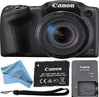 Canon PowerShot SX420 is with 42x Optical Zoom and Built-in Wi-Fi ZeeTech Bundle (Cloth Only, Black)