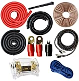SoundBox Connected 0 Gauge Amp Kit Amplifier Install Wiring 1/0 Ga Pro Installation Cables 5000W