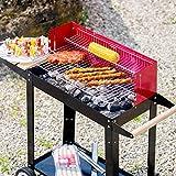 Zoom IMG-2 tectake bbq grill con carrello