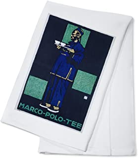 Marco - Polo - Tee Vintage Poster (artist: Hohlwein) Germany c. 1910 (100% Cotton Kitchen Towel)