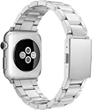 Simpeak Compatible for Apple Watch Band 38mm 40mm Women Men Stailess Steel Metal Band Strap for iWatch Series 4 Series 3, Series 2, Series 1, Silver