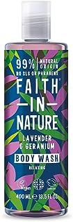 comprar comparacion Faith in Nature Gel de Baño Natural de Lavanda y Geranio, Nutritivo, Vegano y No Testado en Animales, sin Parabenos ni SLS...