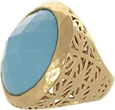 Venus Accessories Women's Gold Plated Ring - 7 US