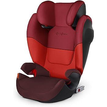 Cybex Silver, M-Fix SL Solution - Seggiolino Auto 2 in 1 per Bambini con e senza ISOFIX, Gruppo 2/3/15-36 kg, dai 9 Mesi ca. ai 12 Anni ca., Rosso (Rumba Red)