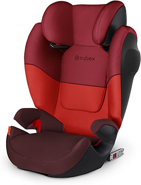 Cybex Silver Solution M-Fix SL Child's Car Seat, High Back Booster, with Adjustable Headrest and ISOFIX Compatible, Group 2/3 (15-36 kg),From Approx 3-12 Years, Rumba Red: image