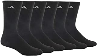 adidas Men's Athletic Cushioned Crew Socks (6-Pack)