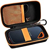 Hard Case Compatible with Extreme PRO Portable External SSD SDSSDE80 SDSSDE81 500GB 1TB 2TB 4TB USB-C Solid State Drive, Travel Carrying Storage Holder Bag for USB Cable-Black (Box Only)