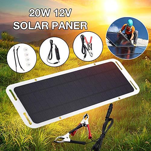 20 W Módulo Solar monocristalino, Policristal de Panel Solar impermeablecélula Solar Ideal para hogar DIY, Sistemas de energía Solar