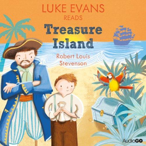 Luke Evans reads Treasure Island audiobook cover art