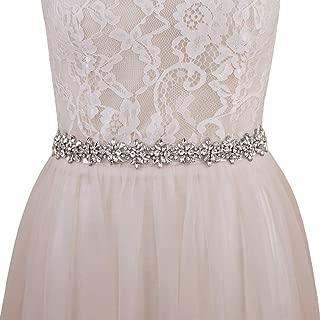 Women's Crystal Diamond Bridal Belt Sashes Wedding Belts Sash for Wedding